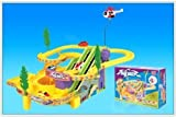 Children Track Racer Kids Racing Race Game Battery Operated Toy Set with 2 Cars
