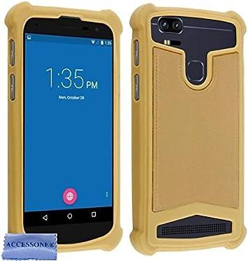 Accessone Coque Universelle Smartphone Etui Housse Pochette Compatible Pour Wiko Y60 Y 60 5 45 Pouces 18 9 Coque Or Amazon Fr High Tech