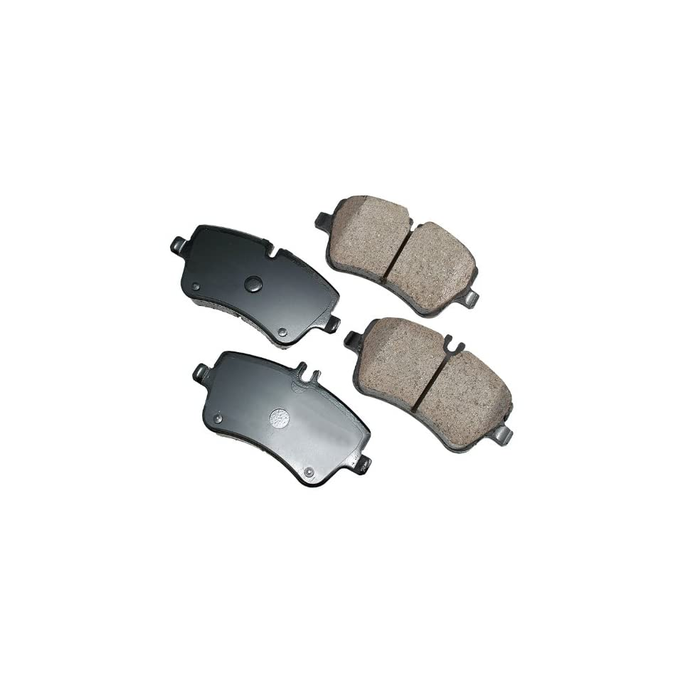 Akebono EUR872 EURO Ultra Premium Ceramic Front Brake Pad Set For 2001 2010 Mercedes Benz C Class, CLK Class, SL Class Automotive