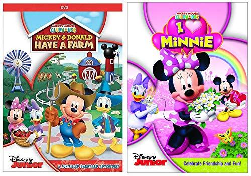 I Love Minnie Celebrate Friendship + Barnyard Adventure Mickey & Donald Have a Farm Clubhouse Disney Junior DVD Cartoon Double Feature