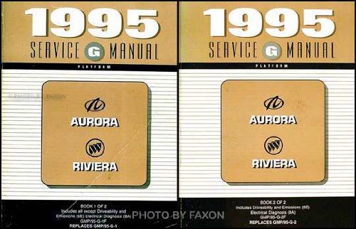 1995 Olds Aurora Buick Riviera Repair Shop Manual Original 2 Volume ()