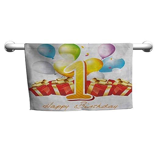 Mdxizc - Toalla de Cocina para Primer cumpleaños, diseño de ...