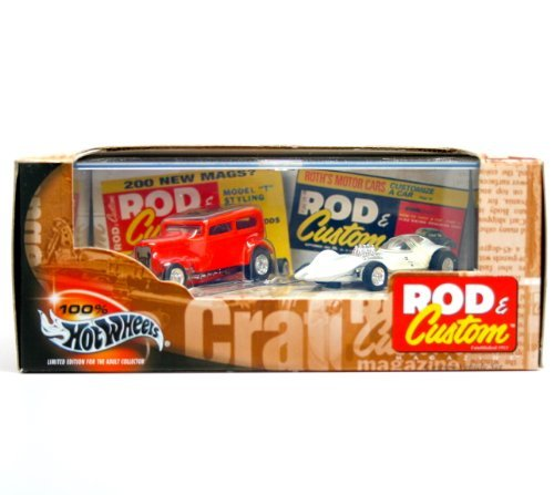 Dean Jefferies' MANTA RAY & Bob Tindle's ORANGE CRATE * Limited Edition * Hot Wheels 2002 ROD & CUSTOM MAGAZINE 1:64 Scale 2-Car Box Set