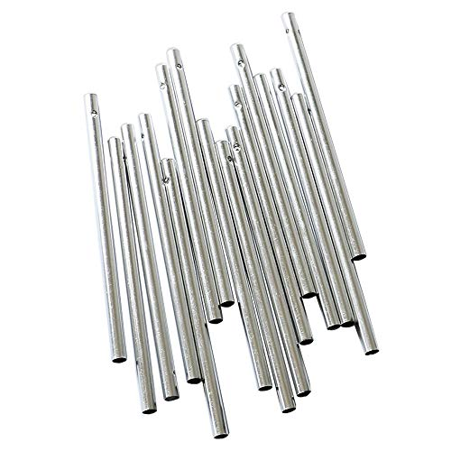 YEJI 30PCS, 5 Different Length, Empty Tubes, Silver Tone Color Wind Chime Tubes for Home Garden Outdoor Hanging Decorations -
