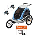 Bike Trailer Baby Stroller Jogger - Via Velo Multifunctional High Visibility Bicycle Trailer For Baby and Kids, Including Jogger and Stroller Kits, Great Transport Tool