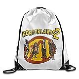 Zhanzy Borderlands Large Drawstring Sport Backpack Sack Bag Sackpack