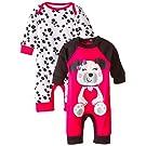 Gerber Baby-Girls Newborn Dalmatian 2 Pack Coverall, Dalmatian, 0-3 Months