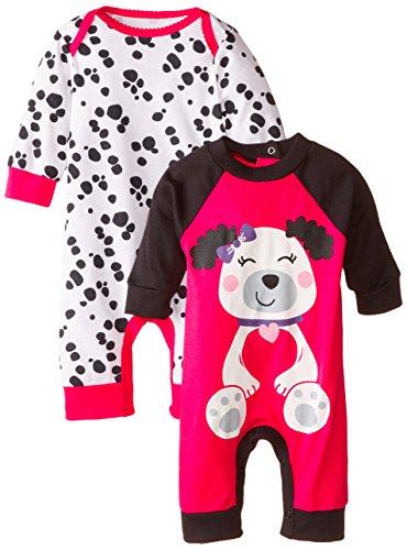 Gerber Baby-Girls Newborn Dalmatian 2 Pack Coverall, Dalmatian, 3-6 Months]()