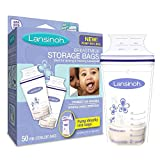 Lansinoh Breastmilk Storage Bags, BPA Free and BPS Free, 50 Count