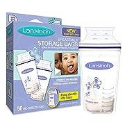 Lansinoh Breastmilk Storage Bags, 50 Count convenient milk storage bags for breastfeeding