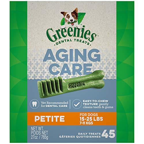 (GREENIES Aging Care Petite Size Dental Dog Treats, 27 oz.)