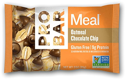 PROBAR - Meal Bar, Oatmeal Chocolate Chip, 3 Oz, 12 Count - Plant-Based Whole Food Ingredients