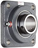 Browning VF4S-228 Normal-Duty Flange Unit, 4 Bolt, Setscrew Lock, Regreasable, Contact and Flinger Seal, Cast Iron, Inch, 1-3/4'' Bore, 4-1/8'' Bolt Hole Spacing Width, 5-3/8'' Overall Width