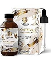 Eucalyptus Essential Oil 4 Oz - Large Bottle with Gift Box 100% Pure & Natural (UNDILUTED) Perfect for Rejuvenation, Skin Aromatherapy Shower, Sauna, Bath, Steam Room, Pain Relief, Congestion