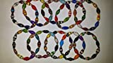 trade package - Bead Bracelets Stretchy- Package of 10 Fair Trade Katogo Multi-Colored Recycled Paper