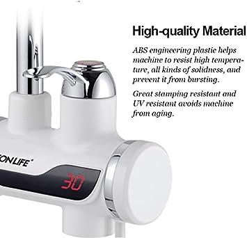 Da Jia Inc 220/V Calentador instant/áneo de grifo grifo de cocina con pantalla digital LED agua caliente instant/ánea calentador el/éctrico calefacci/ón agua del grifo