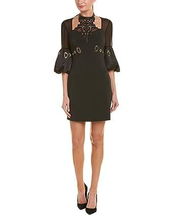 e2134da1c2b0c Amazon.com: Self Portrait Women's Lace Halter Mini Dress Black: Clothing