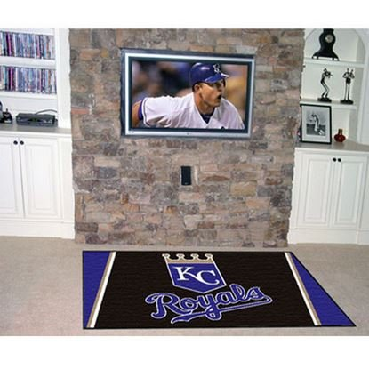 K&A Company Mlb 4 Rug Kansas City Royals X6 Plush - City Kansas Carpet Tiles