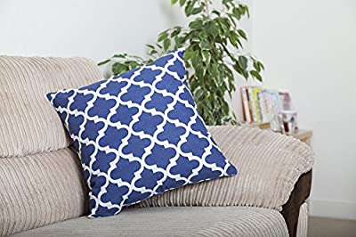 TreeWool, Trellis Cotton Canvas Accent Decorative Throw Pillowcases Cushion Covers