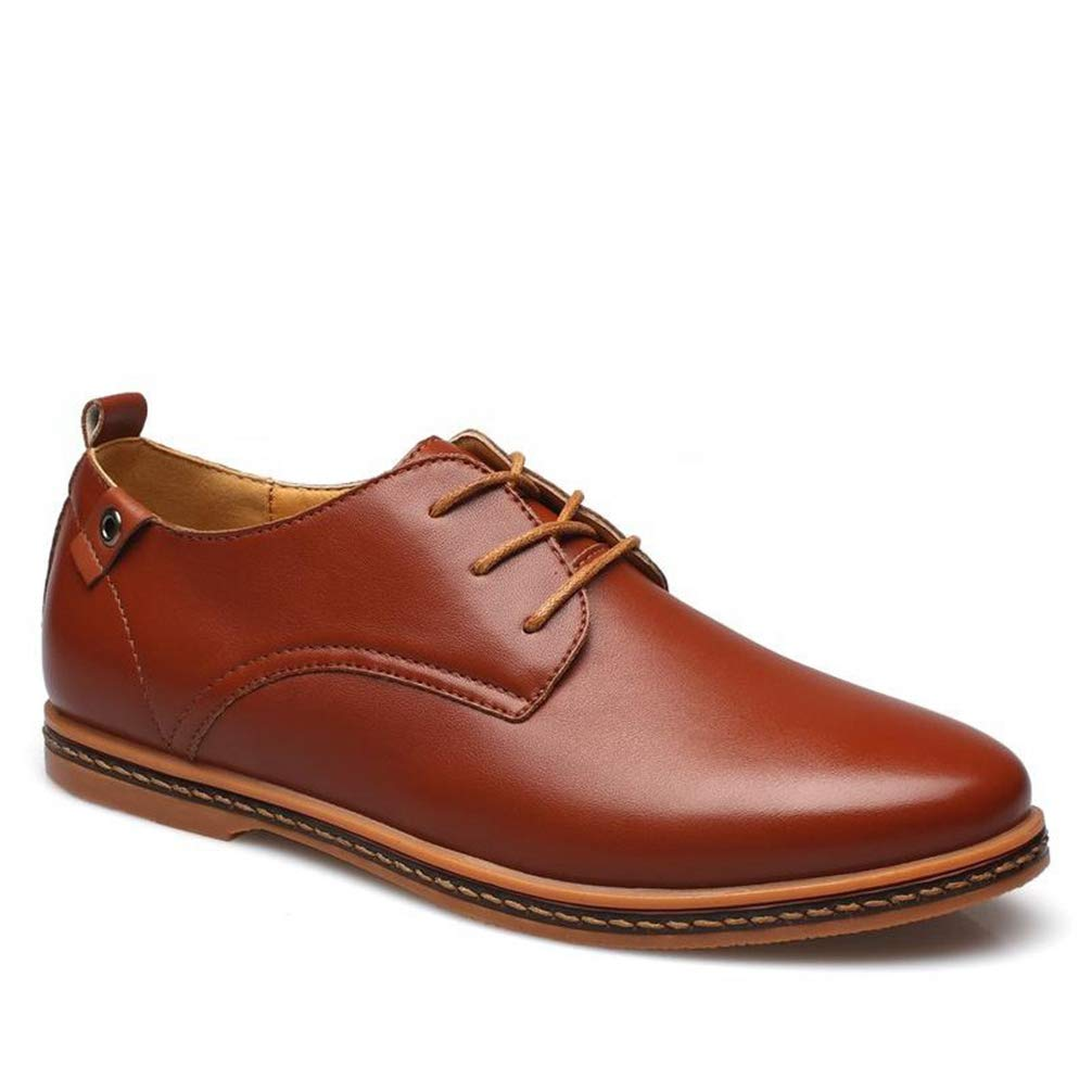 Phil Betty Mens Oxford Shoes Lace up Solid Color Daily Casual Dress Shoes