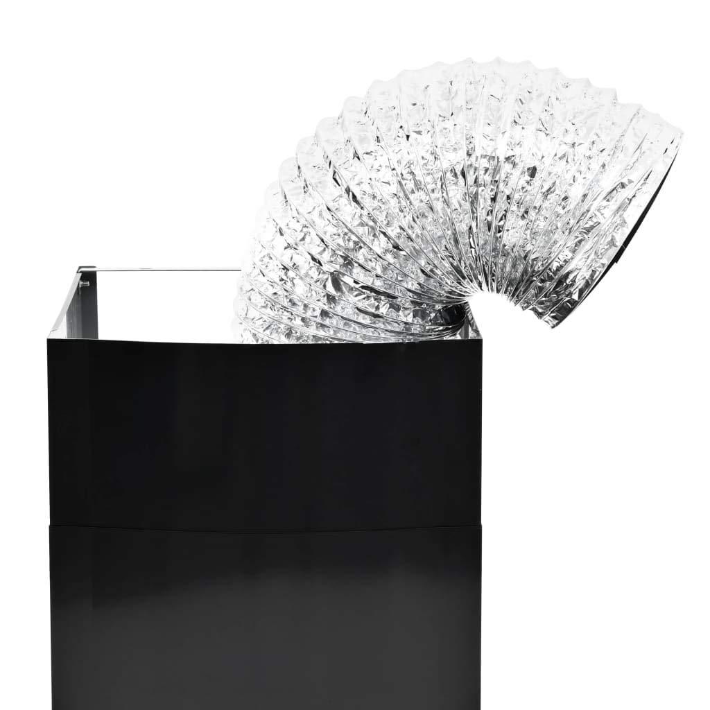 60x45x 43-70 cm UnfadeMemory Campana Extractora Pared de Cocina,Decoracion de Cocina,3 Niveles de Velocidad,Luces LED,Filtro de Carb/ón Incluido,756 m/³//h,Acero Inoxidable,Negro