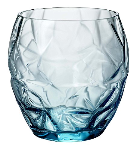 oso Water Glass (Set of 4), 13.5 oz, Blue (13.5 Ounce Glass)