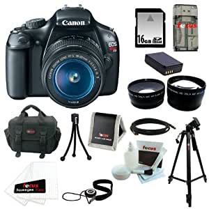 Canon EOS Rebel T3 DSLR w/ 18-55mm Lens Bundle and 16GB Deluxe Accesso