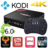 Rominetak [Wireless Mini Touchpad Keyboard] + T95M Android 6.0 Lollipop TV Box Quad Core 1G/8G 4K UHD 3D HDMI Kodi 16.1 Fully Loaded Rooted Unlocked Miracast Google Streaming Media Player WiFi DLNA