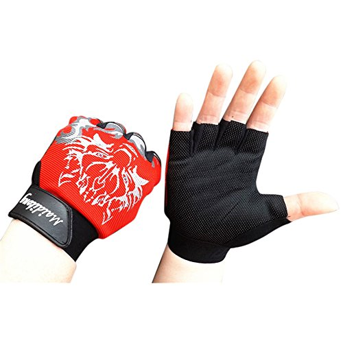 HYIRI 2018 promotionNEW Fansion Antiskid Cycling Bike Gym Fitness Sports Breathable Wolf Head Gloves