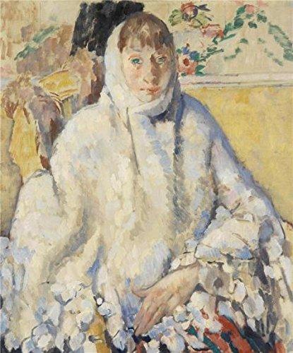 High Quality Polyster Canvas ,the Amazing Art Decorative Canvas Prints Of Oil Painting 'Rik Wouters - The Ill With White Scarf, 20th Century', 18x22 Inch / 46x55 Cm Is Best For Bar Gallery Art And Home Decoration And Gifts