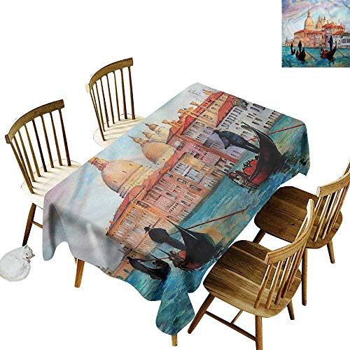 Waterproof Table Cover Venice Watercolor Serene City Party Decorations Table Cover Cloth 54