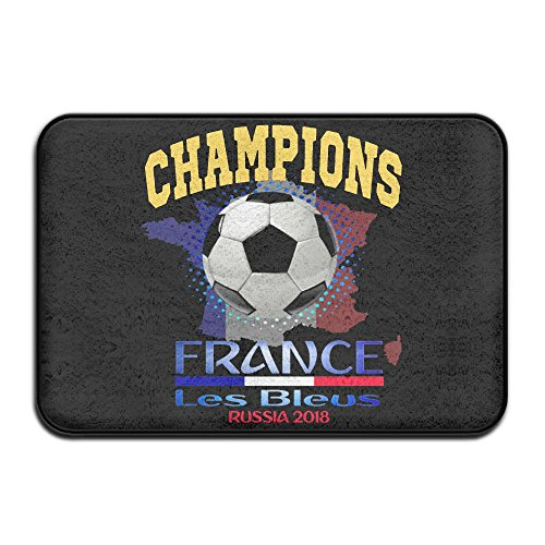 AERYUHPP Bath Mat Bathroom Rug With Non-slip Rubber Outdoor Mat - France Soccer Team 2018 Champion by AERYUHPP