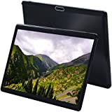 """10 inch Android Tablet with Sim Card Slot - KuBi 10"""" 3G Unlocked GSM Phone Call Tablets Octa Core 4GB RAM 64GB ROM Built in Bluetooth GPS WiFi OTG Camera (Black Alloy)"""