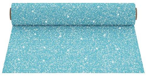 "Firefly Craft Glitter Aqua Heat Transfer Vinyl | Glitter Aqua HTV Vinyl | Aqua Glitter Iron On Vinyl for Cricut and Silhouette | Heat Press Vinyl for Shirts - 12"" x 20"""
