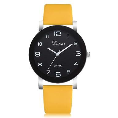 Bestow Reloj de Pulsera de Cuarzo Analšgico para Mujer Reloj de Pulsera de Cuarzo Analšgico para Mujer Lvpai(Amarillo): Amazon.es: Ropa y accesorios