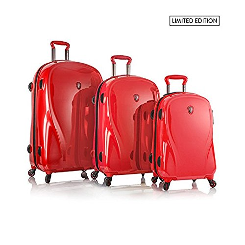 Heys Xcase 2g Spinner Red 3 Piece Set, Infra