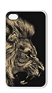 NBcase Howling Lion hard PC iphone 4 case for men funny