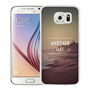 Beautiful Designed Antiskid Cover Case For Samsung Galaxy S6 Phone Case With Another Day Beach_White Phone Case