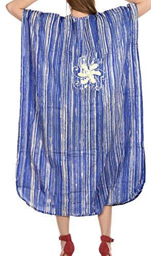 più sala Blu d322 caftano abito LEELA sonno caftano coprire lungo usura LA di Otton notte OxEAIwa