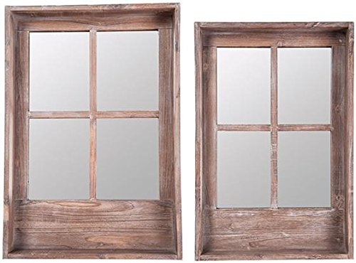 Mirrored Window Shelves Set Of 2, SET OF 2, NATURAL