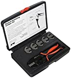 Performance Tool W186 Professional Quick Interchangeable Deutsch Ratchet Crimping Tool Set, 7-Piece
