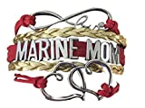 Infinity Collection US Marine Corps Mom Bracelet, Proud Marine Mom Charm Bracelet - Makes Perfect Mom Gifts