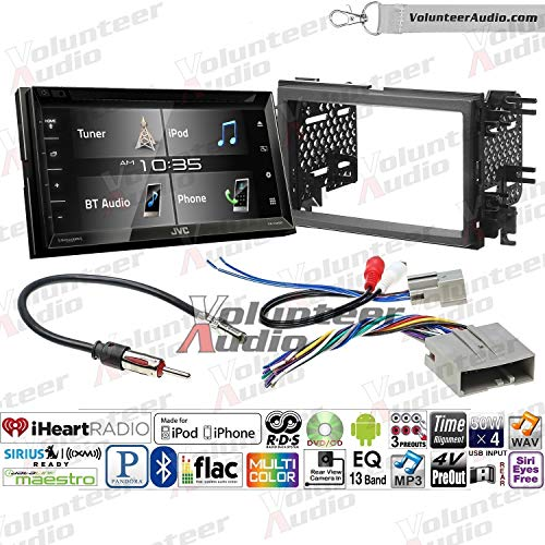Volunteer Audio Jvc Kw V340bt Double Din Radio Install Kit With Bluetooth Sirius Xm Ready 6 2 Touchscreen Fits 2007 2010 Edge Without Factory Amplified Sound