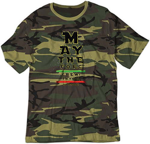 BSW Youth May The Force be with You Eye Chart Star Wars Shirt LRG Camo -