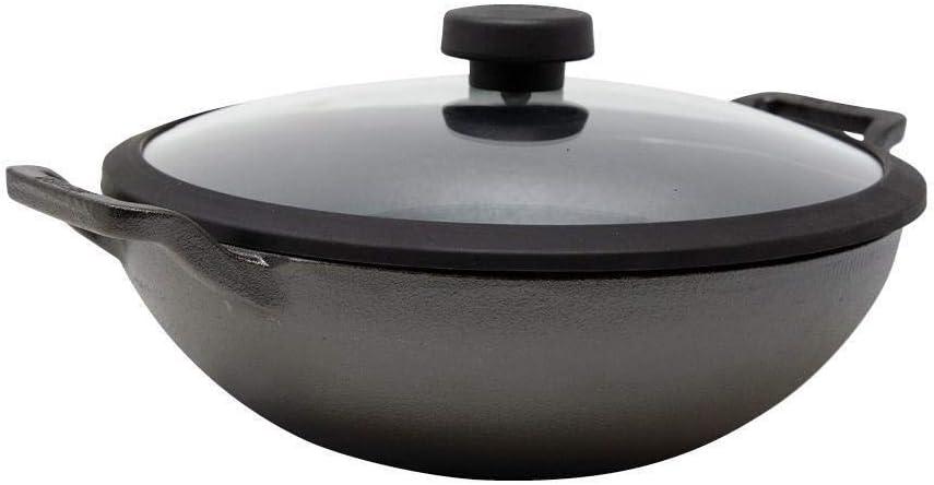 Meyer Cast Iron 26cm//3L Kadai with lid