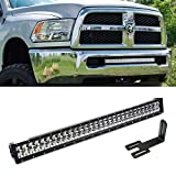 """iJDMTOY Extremely Bright 30"""" 180W High Power Double-Row LED Light Bar w/ Hidden Lower Bumper Mounting Bracket For 2003-up Dodge RAM 2500 3500"""