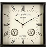 IMAX Old World Estate Worldtimer Wall Clock, Black