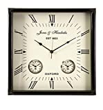 IMAX 60087 Worldtimer Wall Clock, Black