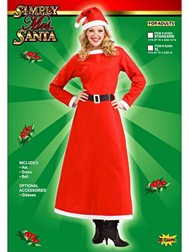 Mrs. Santa Claus Christmas Costume Fancy Dress Adult Ladies Std Women's Red Xmas]()