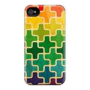 High Impact Dirt/shock Proof Case Cover For Iphone 4/4s (colorful Pluses)